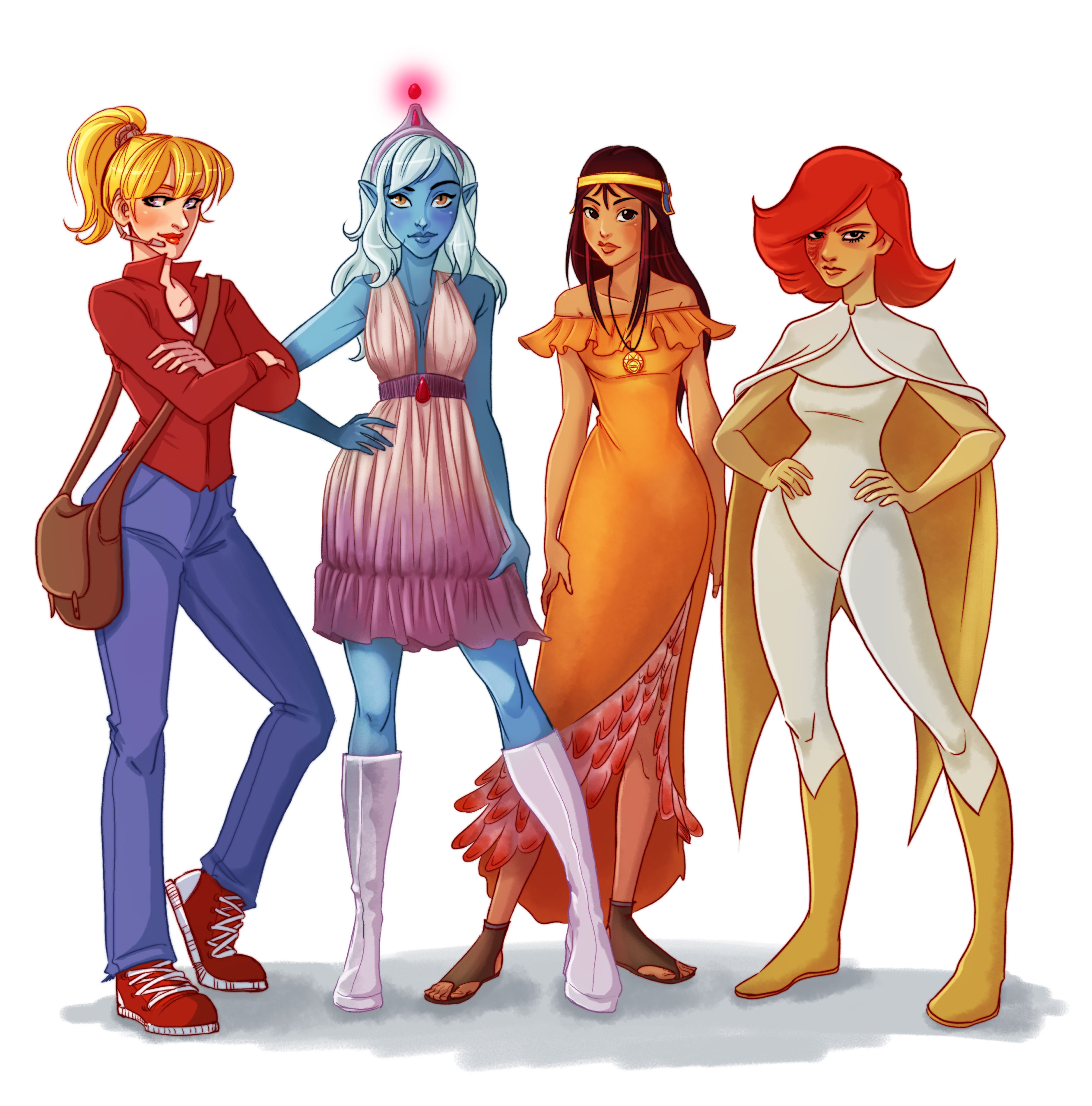80's cartoons Heroines