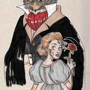 Inktober – The Beauty and the Beast